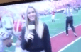VIDEO: ESPN's Laura Rutledge Gets Destroyed on the Sideline in Georgia-UMass Game