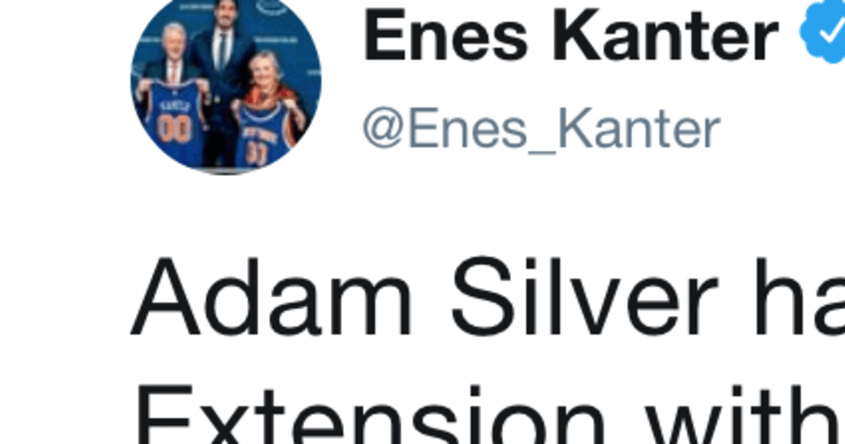 enes kanter destroys adam silver on twitter for letting