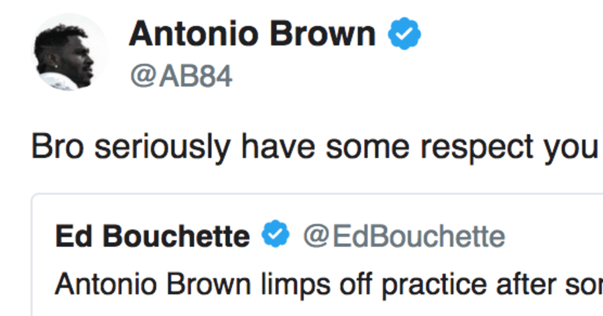 Antonio Brown Blasts Reporter in NSFW Tweet for Spreading Fake News