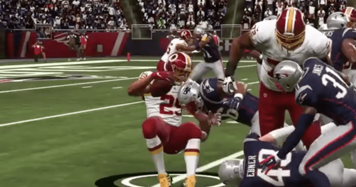 VIDEO: Horrifying Madden Glitch Causes Derrius Guice to Snap His Leg Multiple Times