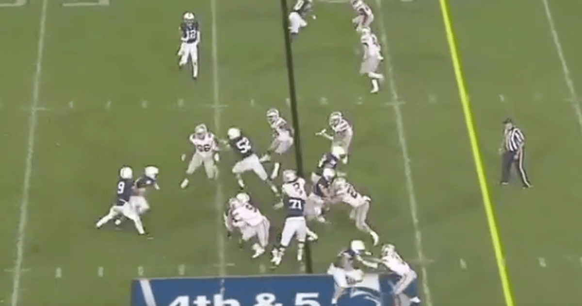 VIDEO: Penn State's Last Fourth Down Play Call Was Absolute Trash
