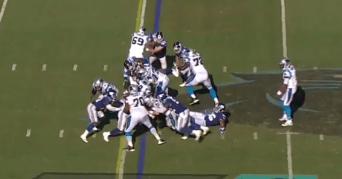 VIDEO: It Looks Like Cam Newton Spiked the Ball on Fourth Down on Final Drive But the Refs Blew It