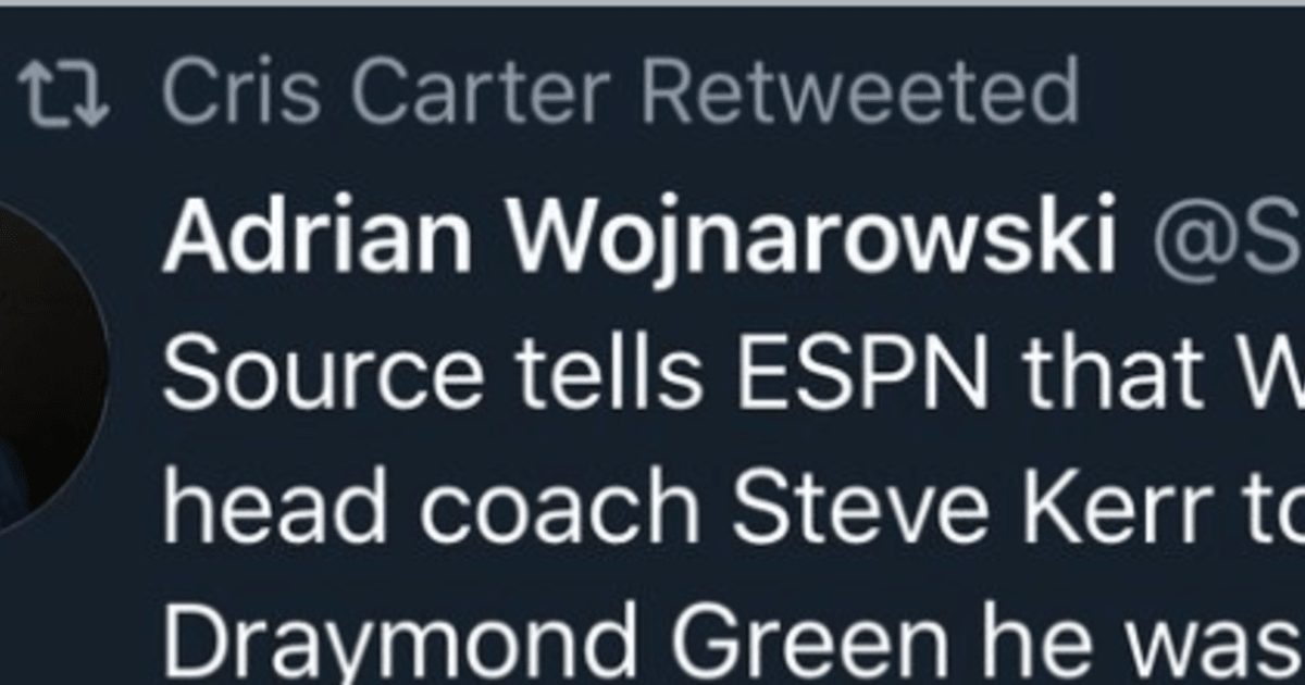 Fake Woj Account Fooled Cris Carter Into Retweeting Ridiculous Claim About Draymond Green