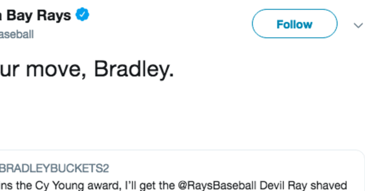 Rays Hold Fan to His Promise to Get Logo Shaved Into His Head if Blake Snell Won Cy Young