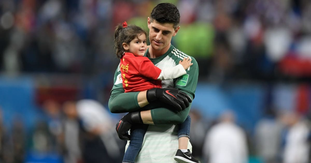 Chelsea Fans Indulge in Classless Behaviour After Thibaut Courtois Posts Picture With His Daughter