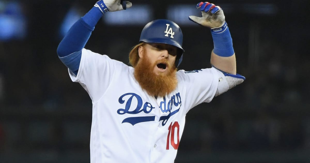 beard justin turner shaved his just completely famous different looks red dodgers