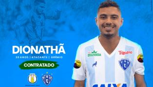 Atacante Dionathã é o novo reforço do Paysandu para o restante da temporada