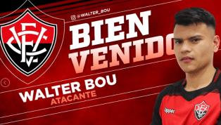 Vitória anuncia a contratação de Walter Bou, ex-jogador do Boca Juniors, da Argentina