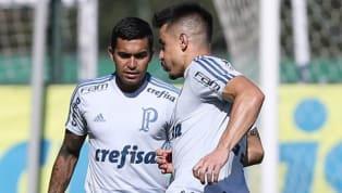 Em treino, Palmeiras esboça time titular que pode jogar contra o Santos