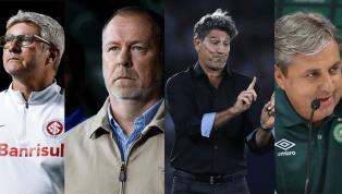 Apenas quatro clubes da Série A mantiveram o mesmo técnico do início do ano