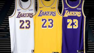 Los Angeles Lakers divulga novos uniformes para a próxima temporada