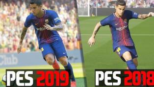Veja como ficou a comparação entre o PES 18 e o 19