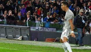 Cristiano Ronaldo marca bonito gol com a 'perna ruim' em vitória da Juventus