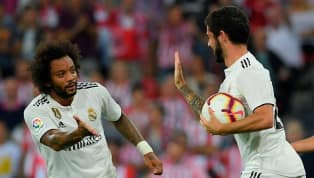 Real Madrid divulga imagens de Marcelo e Isco recuperados em treino