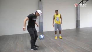 Neymar dá show de habilidade junto a 'freestyler'