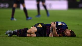 Messi se lesiona no braço em queda e pode ser desfalque para a Liga dos Campeões