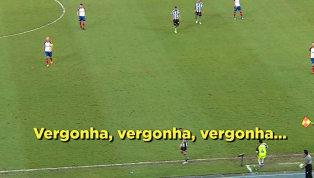 'Time sem vergonha', protesta torcida do Botafogo durante derrota para o Bahia; assista