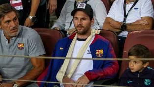 Confira as reações de Messi, lesionado, durante a vitória do Barcelona sobre a Inter