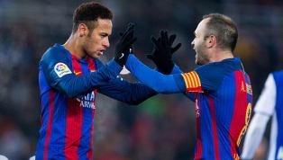 Iniesta sobre Neymar: 'Não me doeria se ele fosse para o Real Madrid'