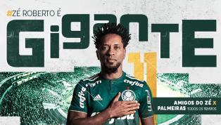 Palmeiras oficializa jogo de despedida de Zé Roberto com transmissão da TNT