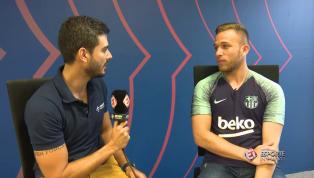 VÍDEO: Arthur fala sobre expectativa para enfrentar Vini Jr no clássico Real e Barcelona