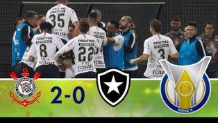 Com gols de Rodriguinho e Romero, Corinthians bate o Botafogo; veja os lances
