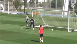 VÍDEO: Vinicius Jr. treina entre os titulares e dá assistência para gol de Bale