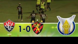 Com gol de Erick, Vitória vence o Sport e se distancia da zona de rebaixamento