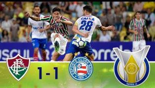 VÍDEO: No Maracanã, Fluminense e Bahia empatam em 1 a 1; veja os lances