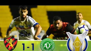 Sport marca no último minuto e empata com a Chapecoense na Ilha do Retiro