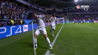 Benzema recebe lindo lançamento de Bale e empata para o Real Madrid