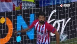 ELE DE NOVO! Diego Costa recebe de Correa e empata para o Atlético de Madrid