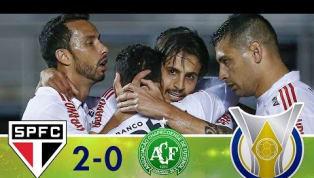 São Paulo vence a Chapecoense por 2 a 0 e se sagra campeão do primeiro turno
