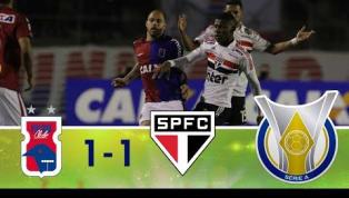 São Paulo abre o placar, mas Paraná consegue o empate