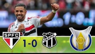 No Morumbi lotado, São Paulo bate o Ceará e segue na liderança do Brasileirão