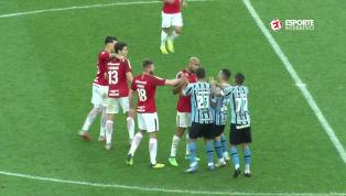 VÍDEO: Jogadores de Inter e Grêmio se envolvem em confusão após partida no Beira-Rio