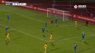 VÍDEO: Após cruzamento rasteiro, Lukaku faz o terceiro da Bélgica