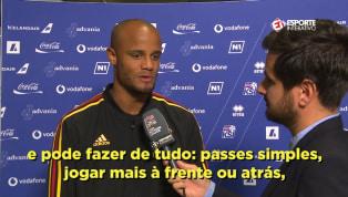 VÍDEO: Kompany sobre brasileiros do City: 'Somos sortudos'