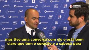 VÍDEO: Roberto Martínez fala sobre escolha de Andreas Pereira pela Seleção Brasileira