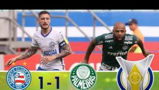Na Arena Fonte Nova, Bahia e Palmeiras empataram em 1 a 1; veja os melhores momentos
