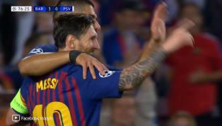 VÍDEO: Messi pega de primeira e faz o terceiro gol do Barcelona
