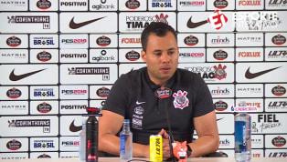 VÍDEO: Jair Ventura fala em peso da camisa do Corinthians quando a bola rolar contra o Flamengo