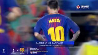 VÍDEO: Confira o Top 5 de golaços de falta de Messi em competições europeias