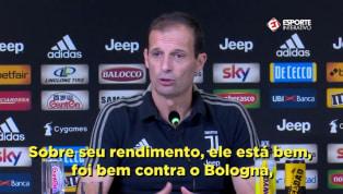 VÍDEO: Allegri fala sobre punição de Cristiano Ronaldo na Liga dos Campeões