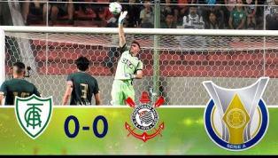 Em jogo morno, América-MG e Corinthians ficam no 0 a 0 e não conseguem crescer na tabela