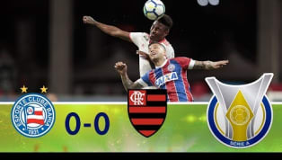Na estreia de Dorival Jr., Fla não consegue sair do 0 a 0 com o Bahia na Fonte Nova