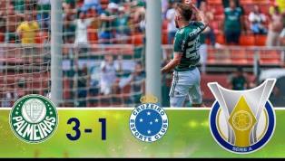 Palmeiras bate o Cruzeiro por 3 a 1, no Pacaembu, e chega à liderança do Brasileirão