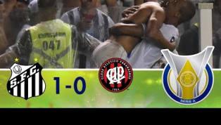 Santos bate Atlético-PR com pênalti polêmico no final da partida