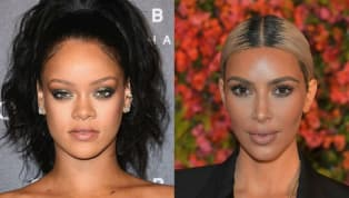 Kim Kardashian Slammed for 'Copying' Rihanna With Newest Makeup Campaign
