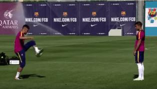 VIDEO: Neymar Owns Rafinha in Barcelona Skill Contest